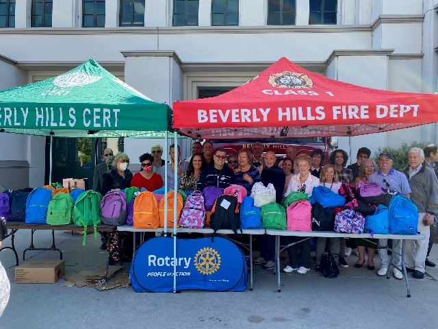 Backpacks donated to a Safe Place for Youth